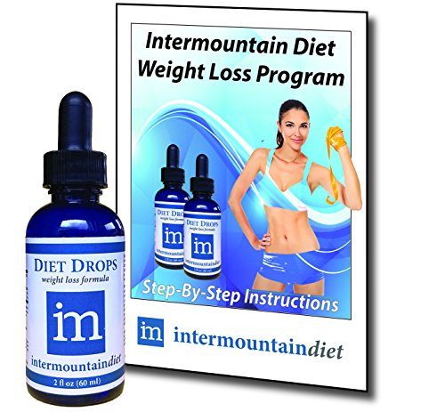Intermountain Diet Drops, Complete Weight Loss System, 30-day supply, Lose 1 to 2 lbs per Day - Guaranteed