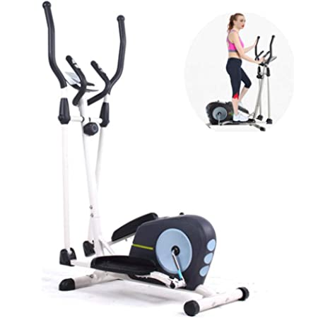 Moma Bikes - Bicicleta ELIPTICA con Volante de 5kg y pulsómetro con cuádruple Sensor, Negro: Amazon.es: Deportes y aire libre