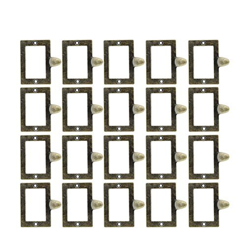 Saim Antique Iron Label Frame Card Holder Cup Pull Handle Drawer Box Case Cabinet Cupboard Carpenter Repair decoration Hardware Pack of 20 ()