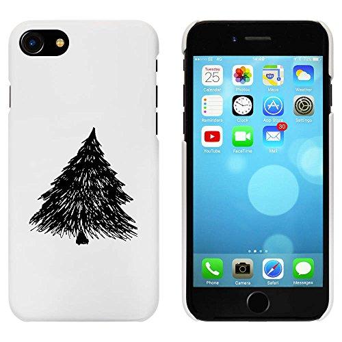 Blanc 'Arbre Pin' étui / housse pour iPhone 7 (MC00060984)