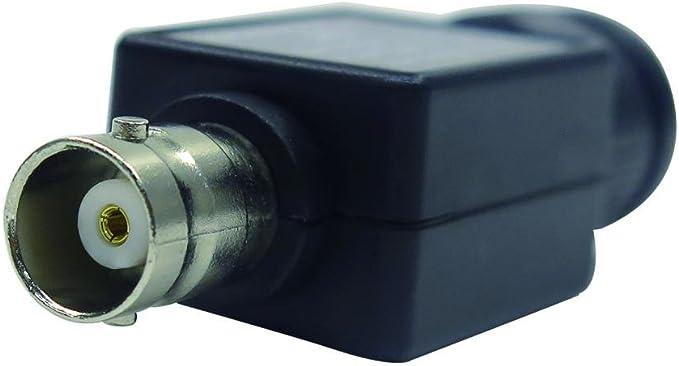 Homyl DC 10V BNC to BNC Female 50 Ohm Feed Through Terminator Q9 Adapter Black