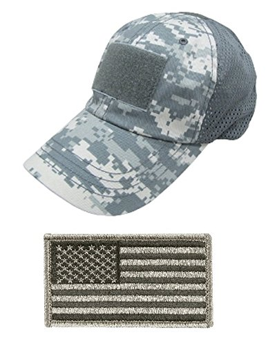 Ultimate Arms Gear Tactical Military ACU Army Digital Camo Camouflage Baseball Team Mesh Hat Cap + USA Flag - Hat Usa Team Trucker