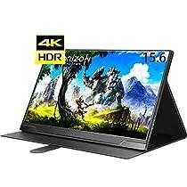 cocopar 4kモバイルモニタ 15.6インチHDR 3840x2160IPSゲーミングモニター ゲーム/HDMI/PS3/XBOX/PS4/USB-Cモニター1080PダブルHDMI HDR機能を支持(厚さ1cm/カバー付き重さ1190g)