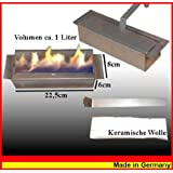 1 litri di bio-etanolo regolabile bruciatore con lana ceramica