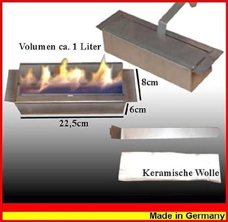Kaminbau Mierzwa Quemador de acero inoxidable para chimeneas de gel y etanol