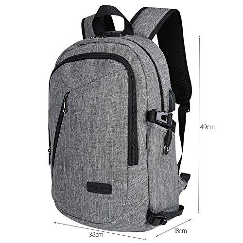 Laptop Rucksack mit USB Ladegerät Rucksack Schulrucksack Anti-Diebstahl Studenten Backpack Daypack Business Reise Für Männer / Frau(Neu
