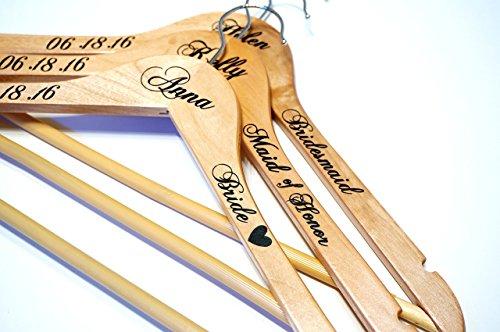 Personalized Wedding Hangers Calligraphy Bridesmaids product image