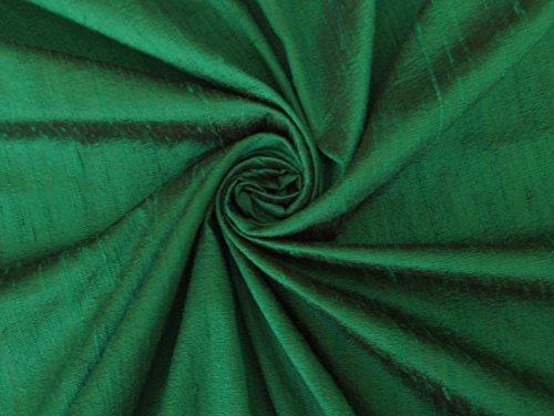 Emerald Green 100% dupioni silk fabric yardage By the Yard 45