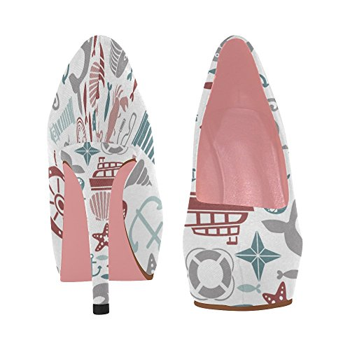 Prin InterestPrint Wedge On Color1 Shoes Colorful Womens Heel 11 Size Pumps 5 Pattern Flowers High Graphic nRnvarf