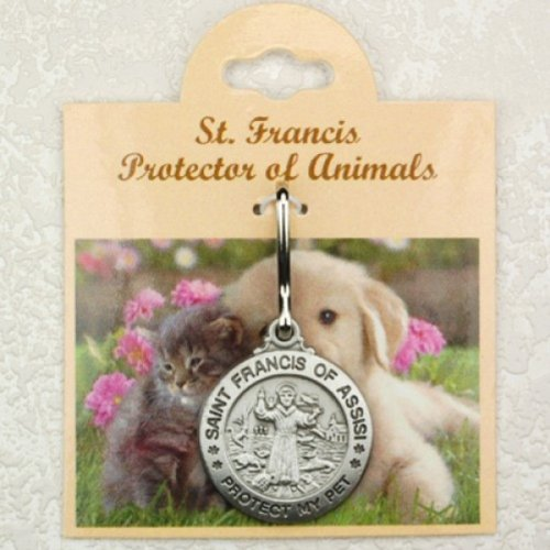 (Pet Id Tag customizable with Name and Phone Number Saint Francis Protect My Pet by