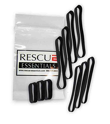 BLACK RUBBER BANDS - 10 PACK VARIETY ()