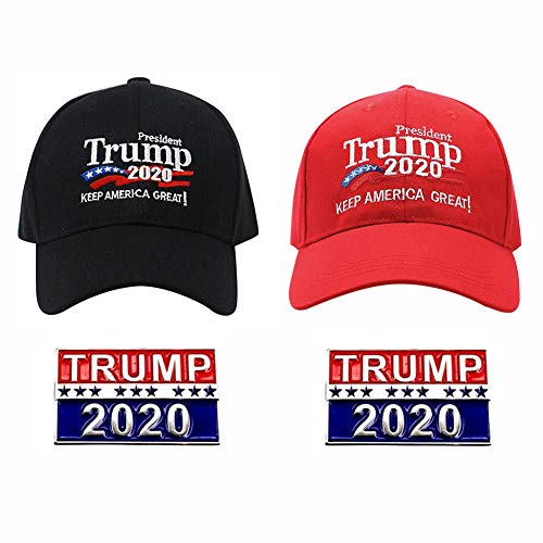 Donald Trump Make America Great Again Hat Adjustable Baseball Cap with 2020 President Election Pin