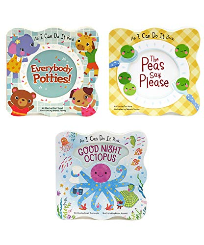 Shaped Board - 3 Pack Shaped Board Books: I Can Do It Series