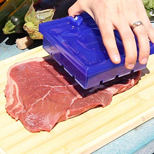 Clever Kebab Maker with Knife Sharpener, Blue