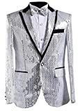 Product review for LD Mens Lapel One Button Sequins Dancing Blazer Jacket Overcoat