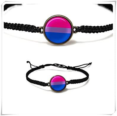 Bisexual flag necklace