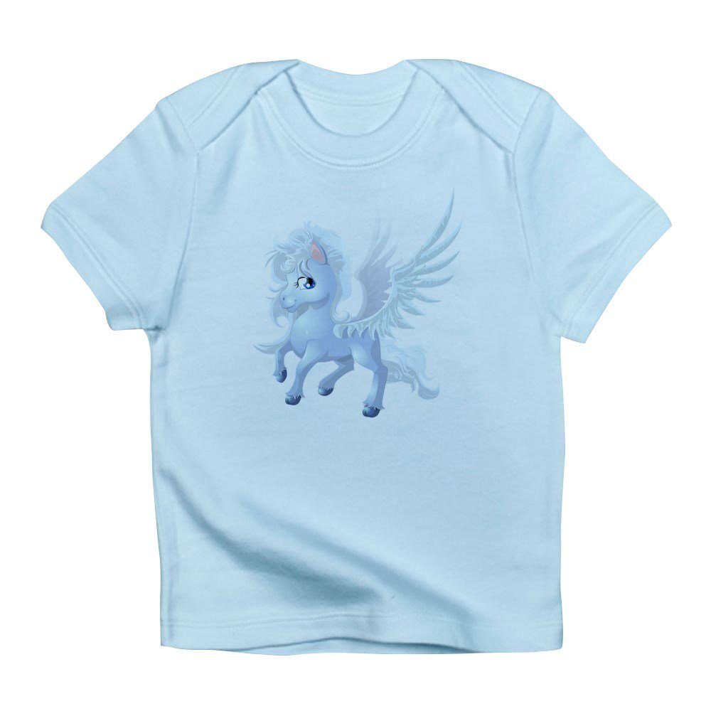 18 To 24 Months Truly Teague Infant T-Shirt Cartoon White Winged Pegasus Sky Blue