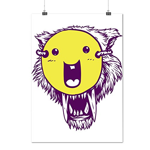 Female Mashup Costumes (Tiger Smiley Mash Up Funny Face Matte/Glossy Poster A3 (12x17 inches) | Wellcoda)