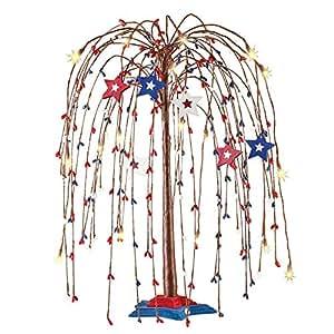Amazon.com: Collections Etc Americana Star - Árbol con luces ...
