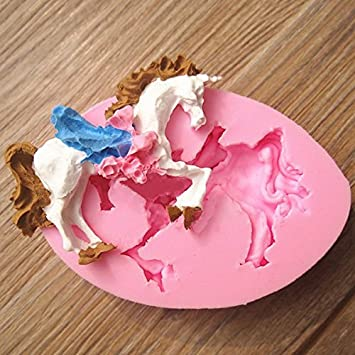 Bluelover Carousel Unicorn Pferd Fondant Schimmel Silikon Der