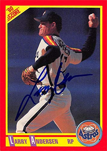 Larry Anderson autographed Baseball Card (Houston Astros) 1990 Score #282