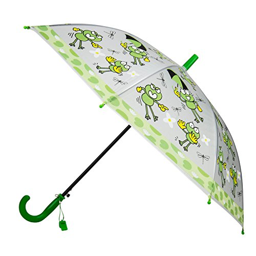 - Aerusi Kids Child Little Boys girls Automatic Umbrella (Green Frog)
