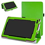 "RCA 7 VOYAGER II Case,Mama Mouth PU Leather Folio 2-folding Stand Cover with Stylus Holder for 7"" RCA 7 VOYAGER II RCT6773W22 2015 Model Tablet,Green"