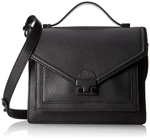 LOEFFLER RANDALL Medium Rider Satchel Top Handle Bag BlackMatte Black Hardware One Size