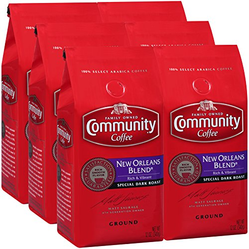 Community Coffee Premium Coffee 12 Ounce (Pack of 6) (New Orleans blend) - Coffee Roasted Orleans New