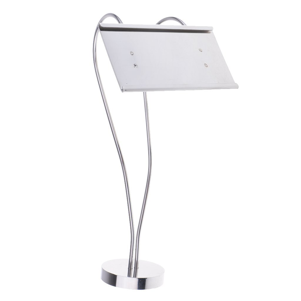Homyl Stainless Steel Table Card Holder Table Number Name Stand Holder Wedding Table Diaplay Decor for Hotel Party Dinner Table - Silver, M-1