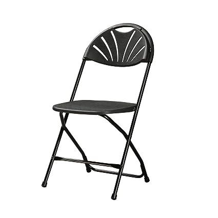 Pleasant Amazon Com Set Of 4 Valuemax Fan Back Plastic Folding Chair Ibusinesslaw Wood Chair Design Ideas Ibusinesslaworg