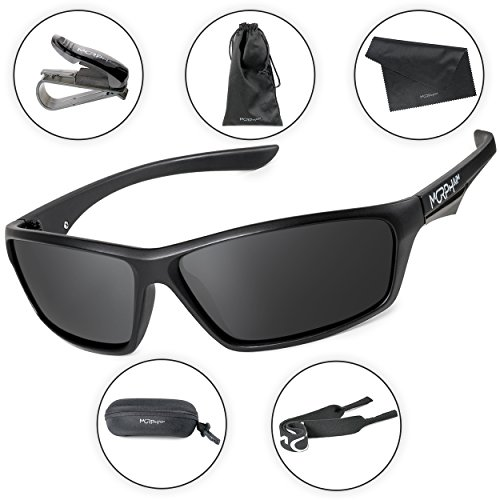 Morph Aim Polarized Sport Sunglasses for Men and Women - Sports: Running Cycling Fishing Golf Baseball Driving by Morph Aim