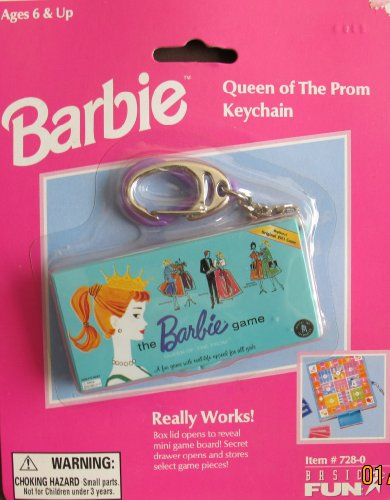 Barbie Queen of The Prom Keychain w Real