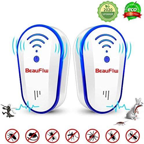 2パック大人用子供用超音波害虫リペラー、スマートチップポータブルプラグイン屋内電子害虫駆除用蚊、ゴキブリ、100%ペットや人間に無害なノイズなし