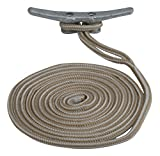 Sea Dog 302112020G/W-1 Double Braided Nylon Dock Line, 1/2'' x 20 / Gold/White