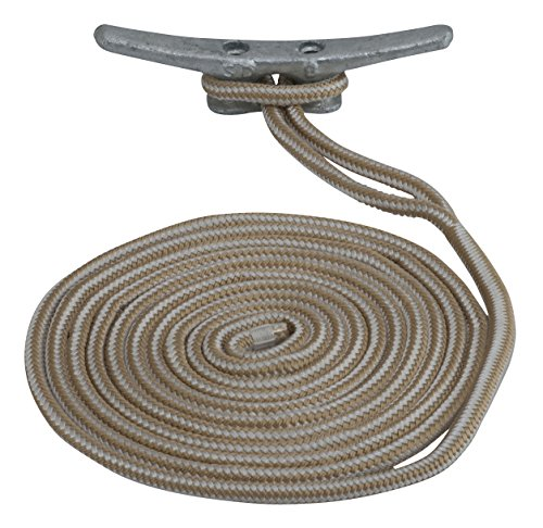 1 Line Double Line (Sea Dog 302112020G/W-1 Double Braided Nylon Dock Line, 1/2