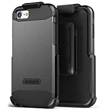 "iPhone 6 Belt Clip Case Premium Tough Protection and Holster (w/ screen guard) Scorpio R5 by Encased for Apple iPhone 6 4.7"" / iPhone 6S 4.7"" (Metallic Gray)"
