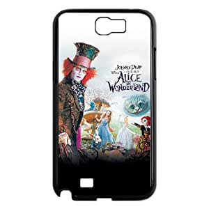 Samsung Galaxy N2 7100 Cell Phone Case Covers Black Alice in Wonderland OKX