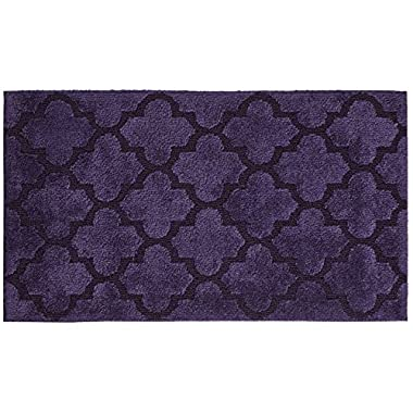 STAINMASTER Trusoft Lattice Design Bath Rug, 21 by 36-Inch, Sugar Plum