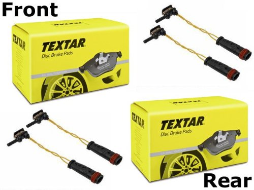 for Mercedes w107 560 SL Brake Pad KIT Front+Rear TEXTAR Pads+Sensors friction