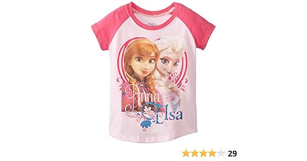 Girls 2016 Disney Frozen Elsa Anna /& Olaf Short Sleeve T-shirt 3-10 Yrs