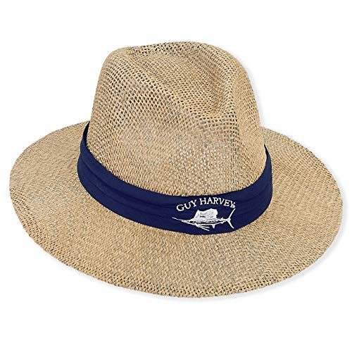 - Guy Harvey Hat w/Cotton Embroidered Brim Navy & Cleaning Pack Bundle