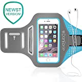IPhone 7 / 6S / 6 SPORTS Armband- Fingerprint Touch Supported , Great for Running, Workouts or any Fitness Activity, Unique Hidden Pocket for Stores Cash, Cards and Keys. Fits smartphone 4.5