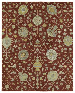 Kaleen Rugs Helena Collection 3202-25 Red Hand Tufted 2' x 3' Rug