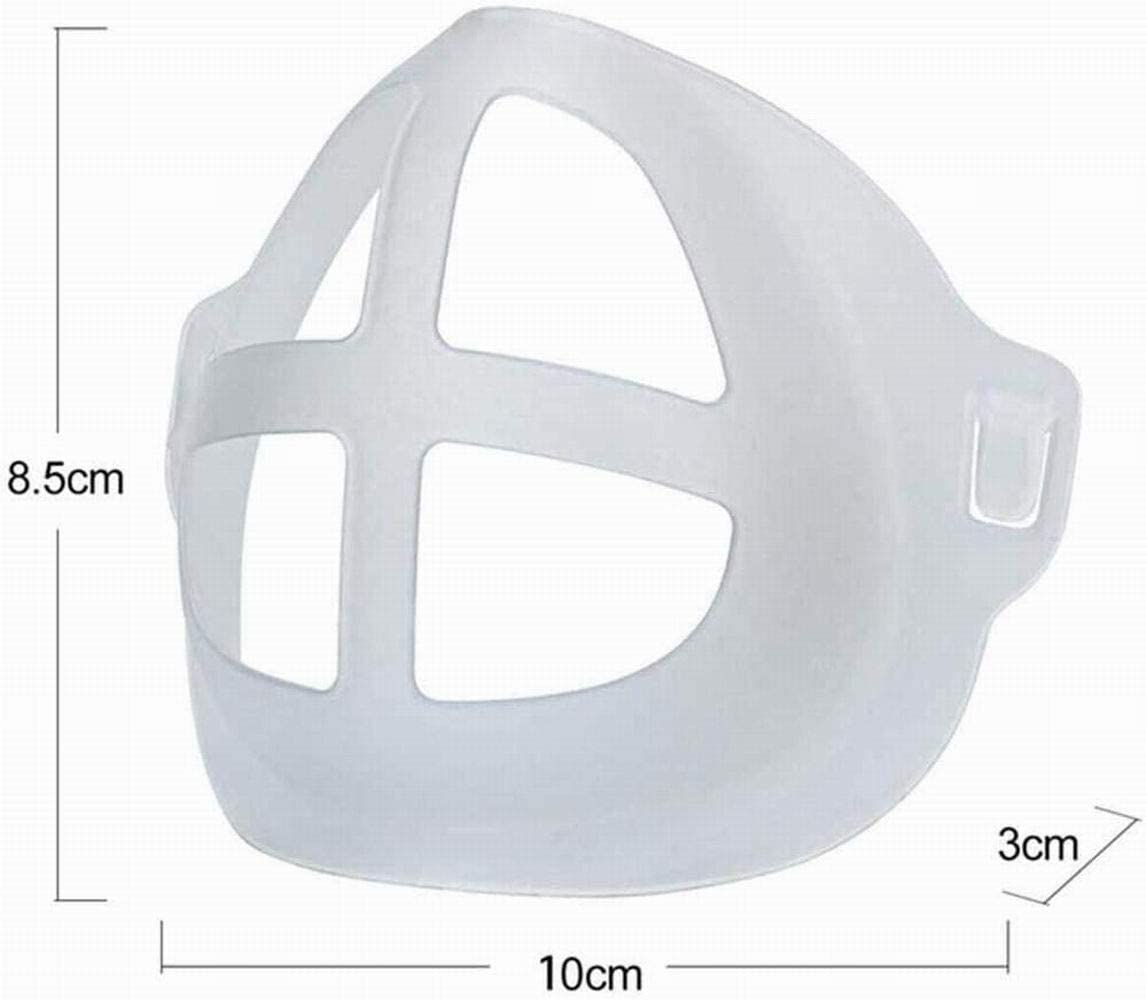 Increase Breathing Space Help Breath Smoothly Makeup Protection Stand for Mask white-5PCS Bracket for Mask Inner Support Frame,3D Cool Mask Bracket white-5PCS