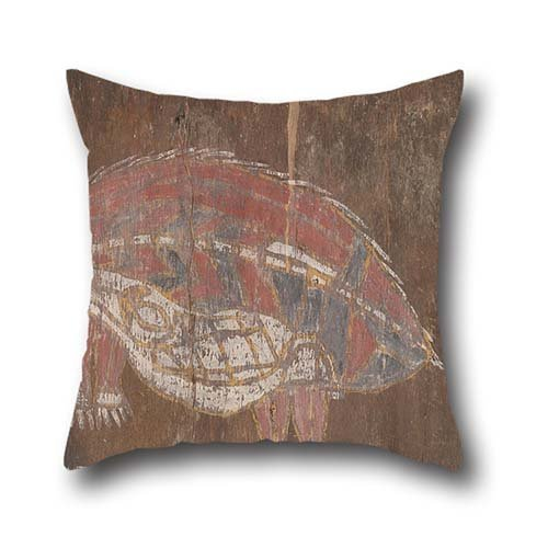 Oil Painting Unknown ARTIST - Kunwinjku People - Wambiddyer Anteater Pillow Cases ,best For Adults,girls,chair,indoor,boy Friend,kids Boys 16 X 16 Inches / 40 By 40 Cm(twice Sides) - Artists Child Rocking Chair
