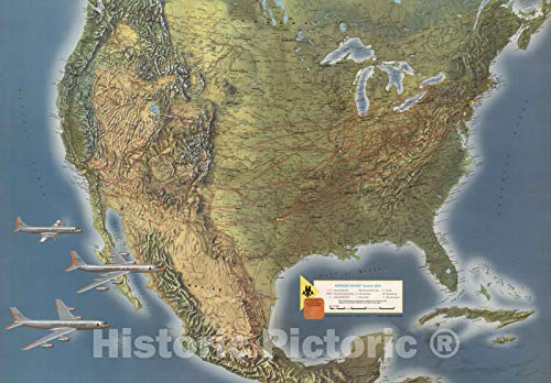 (Historic Map | American Airlines System Map, 1962 v1 | 44in x 31in )
