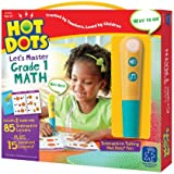 Educational Insights Hot Dots Let's Master 1st Grade Math Set, Homeschool & School Readiness, 2 Books & Interactive Pen, 100 Math Lessons, Ages 6+