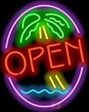 Palm Tree Open Neon Sign
