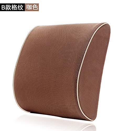 Respirable Cojín de la cintura del coche Memoria transpirable Algodón Volver Cintura Cojín Cintura Cinturón Soporte lumbar Soporte de almohada para sillas ...